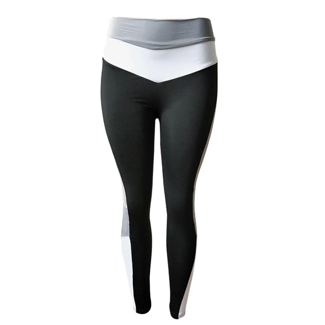 Pantalones Yoga Mujeres, ❤️Xinantime Polainas de yoga de gimnasio de deportes de cintura alta de mujeres Running Fitness Leggings Pants Ropa de ejercicio: ...