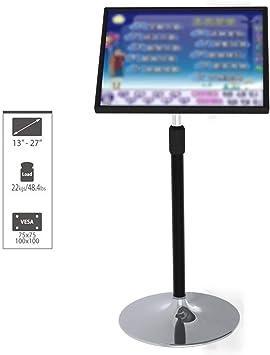 HLZ Supporto de TV, LCD y computadora 13-27 Pulgadas Soporte de exhibición de Piso, 360