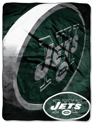 The Northwest Company Officially Licensed NFL New York Jets Bevel Micro Raschel Throw Blanket, 60