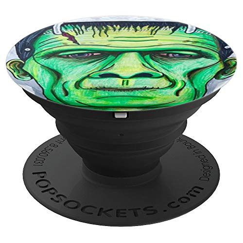 Green Dr Frankenstein Mad Scientist Monster Novelty Gift - PopSockets Grip and Stand for Phones and Tablets -