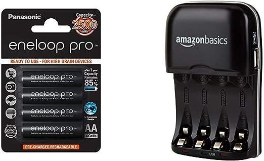 Panasonic Eneloop Pro BK-3HCDE/4BE: Amazon.es: Electrónica