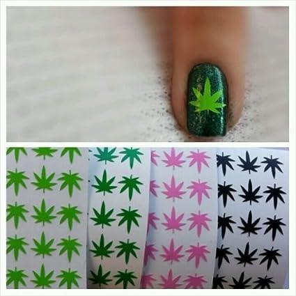 Amazon Pot Weed Marijuana Leaf Vinyl Nail Art Decal Stickers