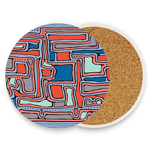 GTdgstdsc Pattern - Serenity Sculpture Absorbent Stone Coaster for Drinks with Cork Drink Coaster Mats for Kinds of Mugs and Cups Pack Of 1
