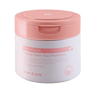 Mizon AHA BHA PHA Clear Face Pads, Exfoliating Toner Pads, Double Sided Peeling Toner Pad, Korean Facial Cleansing Pads, Hydrating and Pore Care, Smooth Facial Exfoliator (Moisture)