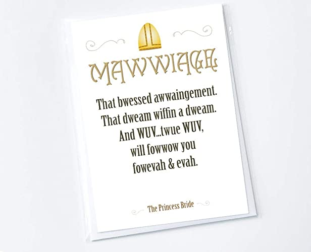 Amazoncom The Princess Bride Mawwiage Handmade Greeting Card With