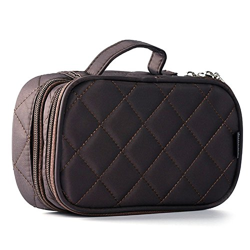 Women Makeup Bag Zipper Handle Cosmetic Organizer Bathroom T