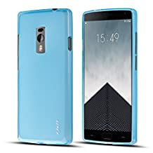 Oneplus Two Case, J&D [Drop Protection] Oneplus Two TPU Jelly Case [Soft Bumper] Slim Protective Premium Jelly Case for Oneplus Two (OnePlus Two, Blue)