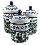 Polish Pottery Maia 3 Piece Canister Set