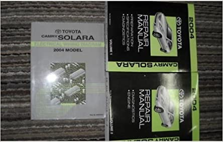 2004 Toyota Camry Solara Electrical Wiring Diagram Service Manual