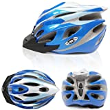 SMS Outdoor EPS Bicycle Bike Cycling Riding Helmet with 25 Vents, Blue By BSK