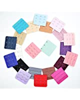 KLOUD City® 22 pcs Assorted Colors Women 3-Hook 3 Rows Spacing Bra Extender Strap