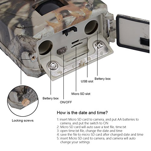 Trail Camera KUOOL 12MP 1080P Full HD Hunting Camera with Infrared Night Vision Waterproof Wildgame Innovations Trail Camera 26 Pcs IR LEDs 120 Wide Angle Game Cam for Wildlife Monitoring Game Trail Cameras