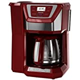 Black and Decker Red Coffee Maker Black & Decker CM5000RD Mill & Brew Programmable 12-cup Coffee Maker, Red