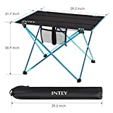INTEY Folding Picnic Table, Portable Camping Table...