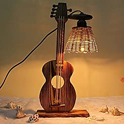 DIDIDD Creative lamps retro process head personality clocks students the bedrooms are small ornaments
