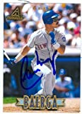 Autograph Warehouse 48537 Carlos Baerga Autographed Baseball Card New York Mets 1997 Pinnacle No .54