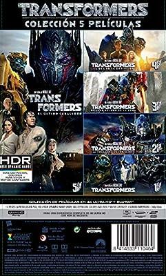 Pack: Transformers 1-5 (4K UHD + BD) [Blu-ray]: Amazon.es: Mark Wahlberg, Anthony Hopkins, Josh Duhamel, Shia LaBeouf, Megan Fox, Laura Haddock, Santiago Cabrera, Isabela Moner, Jerrod Carmichael, Stanley Tucci, Michael Bay, Mark