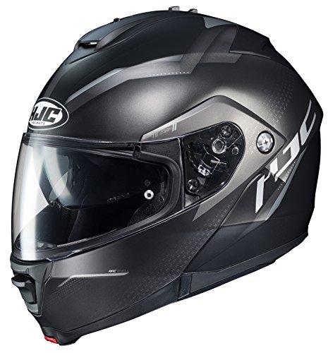 (HJC Helmets Unisex-Adult Flip-Up-Helmet-Style IS-MAX II MC5SF Dova Modular Helmet (Black/Grey, Large), 1 Pack)