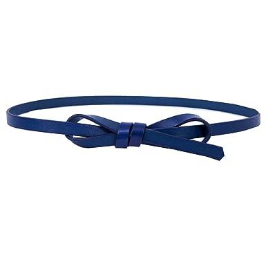 65a567655330ff Cheerlife Damen Schmaler Gürtel Rindledergürtel modisch Taillengürtel Jeans  Kleid Belt Kleidgürtel Mädchen (105cm, Blau