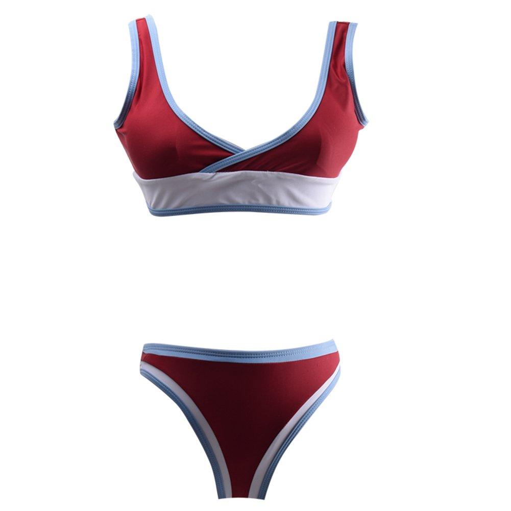 Weiwei Damenmode Bikini Badeanzug, Im Freien Strand Schlanke Versammelt Sport Bademode B07C9RG3JK Bikini-Sets Einzelhandelspreis