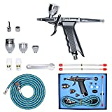 Gocheer Professional Airbrush Paint Sprayer Double Action Spray Gun Single-action Trigger with Hose