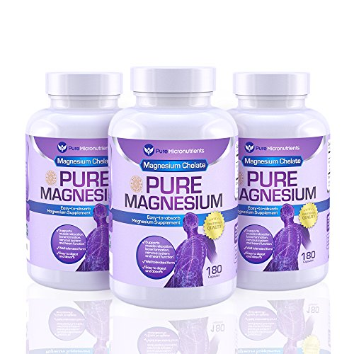 Pure Micronutrients Magnesium Supplements, 200mg, 180ct – Mega 3-Pack