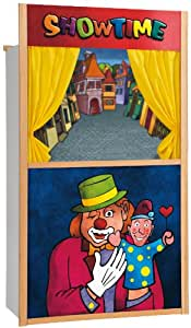 Eichhorn 100002585 - Teatro de marionetas en madera (marionetas no incluidas), 110 x 64 cm [importado de Alemania] (Simba Dickie)