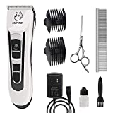 Professional Dog Grooming Clippers - Rechargeable Dog Grooming Kit and Dog Hair Clippers Cordless Suitable Dog & Cat and Other House Animals, Dog Hair Trimmer