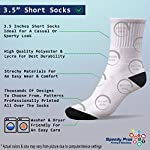 Funny Mens Socks Sussex Spaniel Dog Polyester Crazy Socks Womens 5