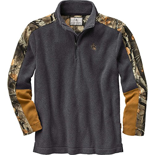 Legendary Whitetails Mens Big Game Tracker 1/4 Zip Charcoal Heather Small