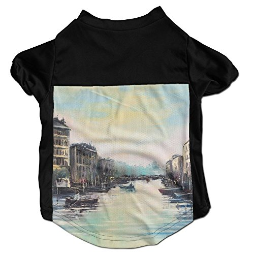 Elegance Sleeveless - Richard Lyons Fashion Sleeveless Pet Supplies Dog Cat Clothes Fantastic Elegance Venice Channels At Dawn Just Before The Sunrise Over Pet Apparel Clothing S Black
