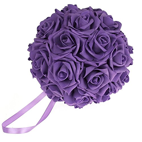 Homeford Firefly Imports Soft Touch Foam Kissing Ball Wedding Centerpiece, 7-Inch, Purple ()