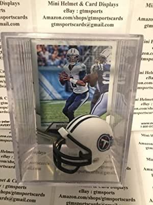 Marcus Mariota Tennessee Titans Mini Helmet Card Display Case Collectible Auto