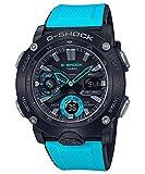 Casio G-Shock GA2000-1A2 Reloj de pulsera para hombre, núcleo de carbono, correa de resina azul