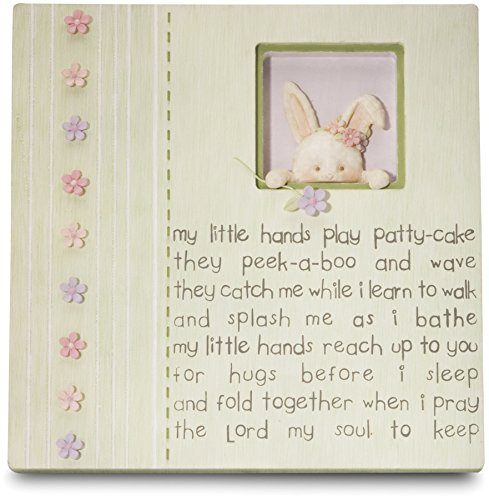 Cutie Patootie by Pavilion My Little Hands Plaque with Bunny, 7-Inch Tall, Includes Easel Back And Hanger -