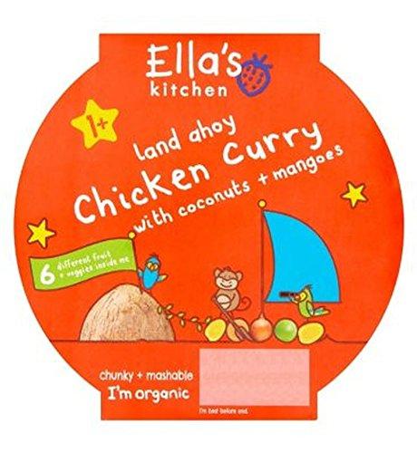 Ellas Küche Chicken Curry Mit Kokosnüssen + Mangos 1+ 200G - Packung mit 2 Ella' s Kitchen