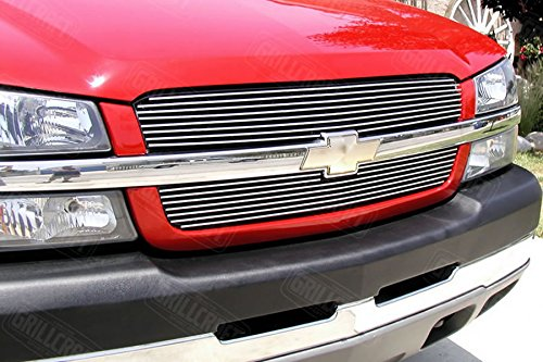 GrillCraft CHE1505-BAO BG Series Polished Aluminum Upper 2pc Billet Grill (Chevy Avalanche Grills)