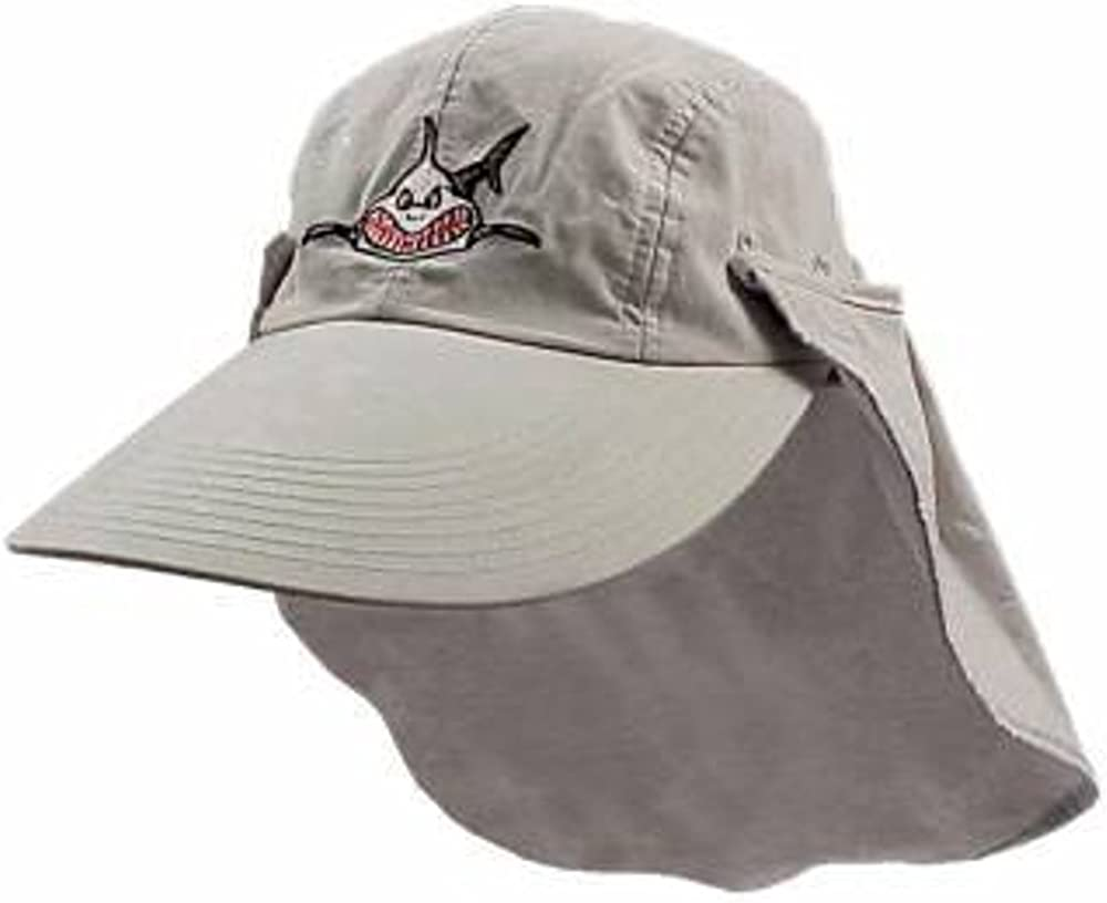 Trident Black Cotton Baseball Cap with Embroidered Shark