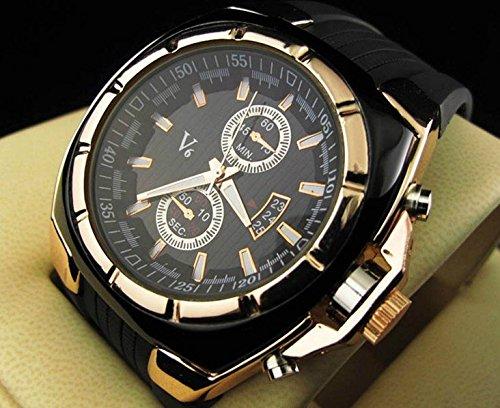 Caliente vender V6 silicona reloj informal hombres de la moda militar deportes cuarzo wrsit reloj Relogio masculino: Amazon.es: Relojes