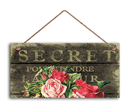 field tree French Market Sign, Vintage Paper Roses, Shabby Chic Sign, Cottage Chic Decor, 12 x 6inch Sign, Rustic Sign Wooden Sign.
