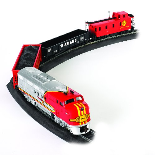 Bachmann Trains - Santa Fe Flyer Ready To Run Electric Train Set - HO Scale (Santas Village Express Train Set)