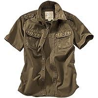 Surplus Raw Vintage Men's Short Sleeve Shirt Brown Size X-Large