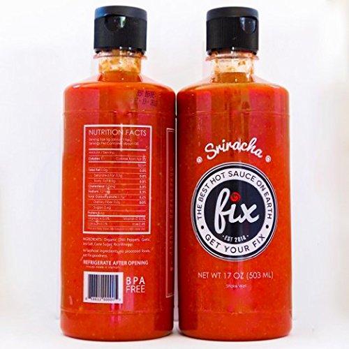 Fix Sriracha Hot Sauce All Natural (2 Pack - 17 Ounce Bottles)