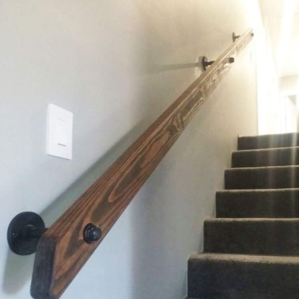 WZNING Escalera Baranda (50cm-600cm), antideslizante de madera pasamano de la escalera, hogar contra la pared interior Loft ancianos Pasamanos Pasamanos Corredor Barra soporte, conveniente for las bar: Amazon.es: Hogar