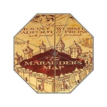 novemberrain mapa del merodeador de Harry Potter Custom poliéster auto plegable paraguas paraguas de diseño a