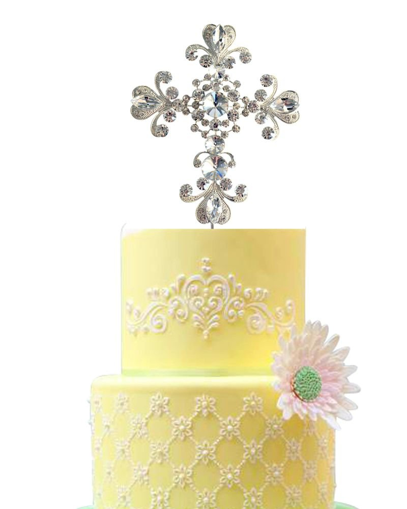 Amazon.com: Communion Cake Topper | Baptism Cake Topper | Religious ...