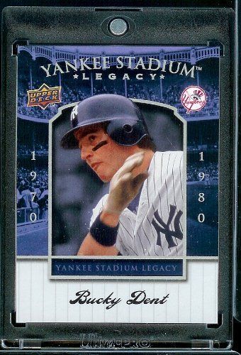 2008 Upper Deck Yankee Stadium Legacy Collection # 54 Bucky Dent - New York Yankees - Limited Edition MLB Baseball Trading Card