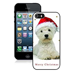 2014 Latest Christmas Cute White Dog Red Hat Black For SamSung Galaxy S4 Phone Case Cover PC Case,For SamSung Galaxy S4 Phone Case Cover