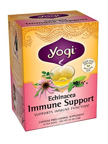 Йоги Эхинацея Иммунная Чай Поддержка, 16 пакетиков (Pack 6)