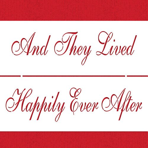Happily Ever After Cake Stencil by Designer Stencils